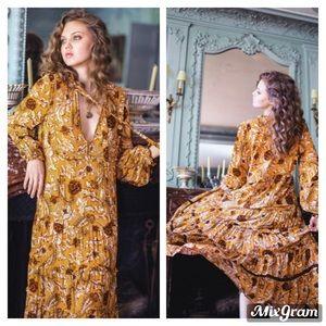 Spell & the Gypsy Etienne Maxi Dress Sienna Sz m